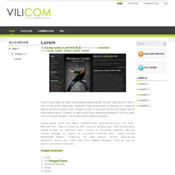 Vilicom blogger template convert wordpress theme to blogger template with 3 column template blog