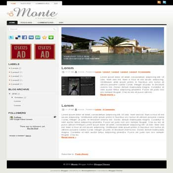 Monte blogger template convert wordpress theme to blogger template with slideshow blogger template