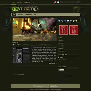 Best Games blogger template convert wordpress theme to blogger template with image slideshow blogger template for game template blog