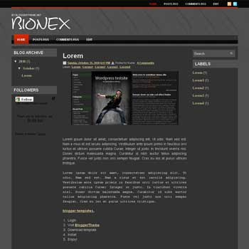Bionex blogger template convert wordpress theme to blogger template with 3 column blogger template and clean template blog