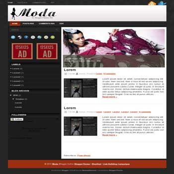 Moda blogger template convert wordpress theme to blogger template with image slideshow template