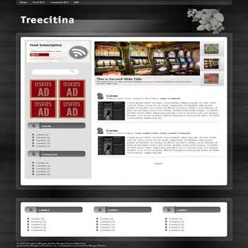 Treecitina blogger template convert wordpress theme to blogger template with vertical featured content blogger template and 3 column footer template blog