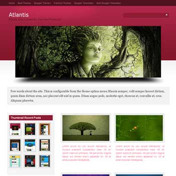 Atlantis blogger template converted from wordpress theme to blogger template with image slideshow blog templates and 4 column footer blog templates