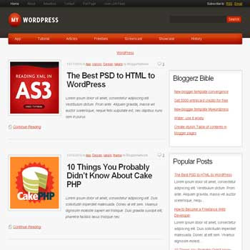 My Wordpress blogger template magazine style converted from wordpress theme to blogger template with 3 column blog templates