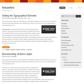 Heliumified blogger template adapted wordpress theme to blogger template for blogspot template