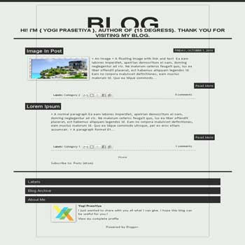 Overflow blogger template with 1 column template blog and clean template blog