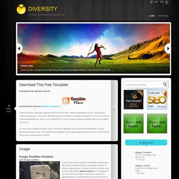 Diversity blogger template converted wordpress theme to blogger template. image slidshow template blogspot
