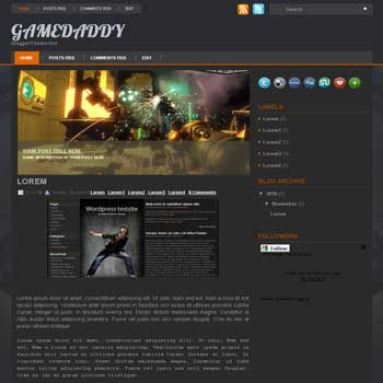 GameDaddy blogger template from wordpress theme. image slideshow blogger template. template blog for game. image slideshow template blogspot blog. game blogspot template blog. blog template for game