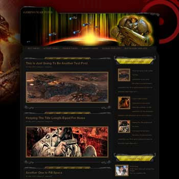 Gaming War Zone  blogger template. blogger template from wordpress theme. blogger template game. template blogspot for game blog