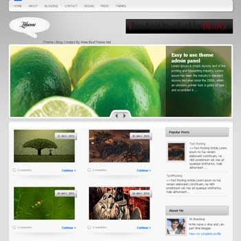 I Theme template blogger converted from wordpress theme to blogger template. featured content blogger template. magazine style blogger template. magazine style blogspot template