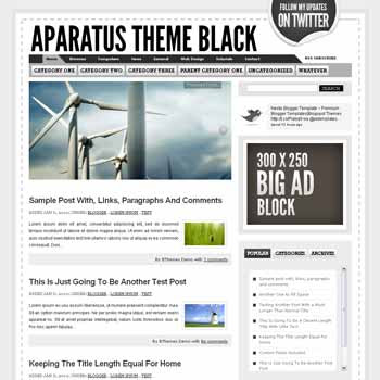 Aparatus Black blogger template. convert wordpress theme to blogger template. image slideshow blogger template. image slideshow blogspot template