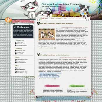 Pet Date blogger template. template blog from wordpress