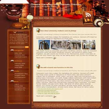 Trace Mycenaean Civilization blogger template. template blog from wordpress.