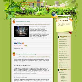Landscaped Paradise blogger template. converted WordPress to Blogger template