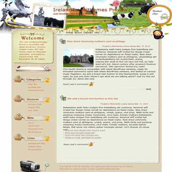 Free Ireland blogger template. template blog from wordpress. travel blog template