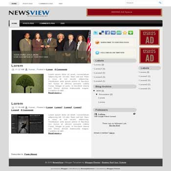 NewsView blogger template converted wordpress theme to blogger template. image slideshow blogger template. game blogger template. image slideshow blogspot template. game blogspot template