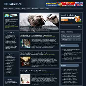 TheGreyMac blogger template. pagination for blogger ready. magazine style template blog. image slider template blog