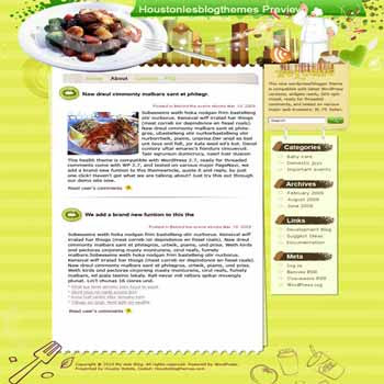 Try Another Taste blogger template. template blog from wordpress. recipes template blog