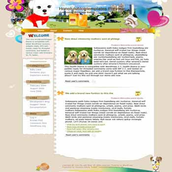 Make Friends with Pets blogger template. template blog from wordpress