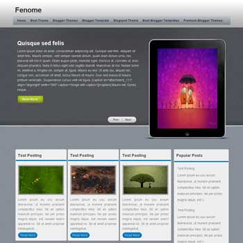 Fenome template blogger converted from wordpress theme to blogger template. Fenome blogspot template. clean blogger template