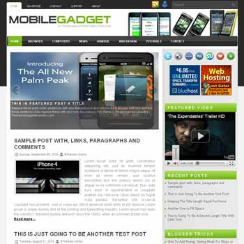 Mobile Gadget blogger template with image slideshow template and pagination for blogger ready