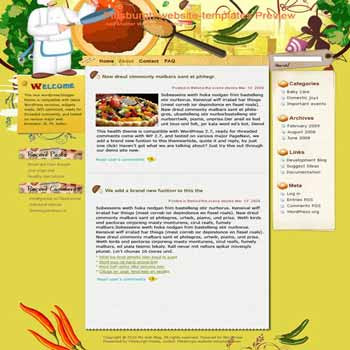 Let Tongues Tell blogger template. template blog from wordpress. recipes and cooking blog template