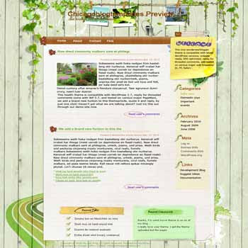 Garden Quicknote blogger template. template blog from wordpress. green template blog
