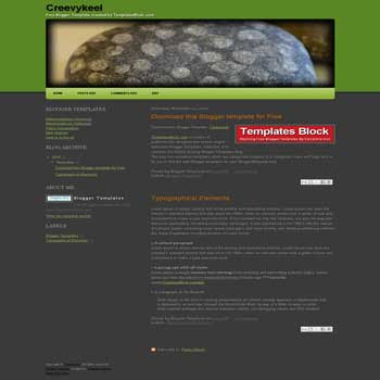 Creevykeel blogger template converted from wordpress theme to blogger. nature template blogger