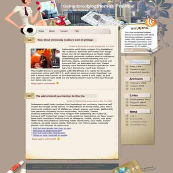 Gravity of City blogger template. template blog from wordpress