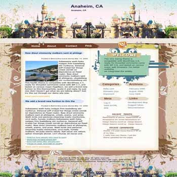 Fairy Land Anaheim blogger template. template blog from wordpress. 3 column blogspot template
