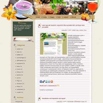 Enjoy Krupnik in Poland. template blog from wordpress. travel blog template