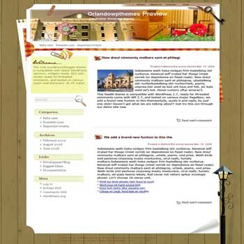 Orlando Stay blogger template. template blog from wordpress