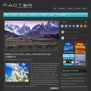 Factor blogger template. pagination for blogger ready. magazine style template blog. image slider template blog