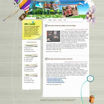 Skate Los Angeles blogger template. template blog from wordpress