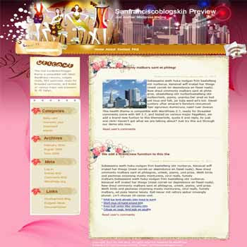 Hippie On blogger template. template blog from wordpress