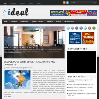 Ideal blogger template. pagination for blogger ready. magazine style template blog. image slider template blog