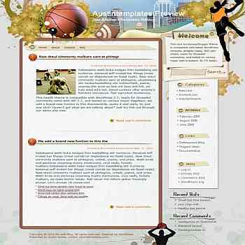 Breath with Sports blogger template. template blog from wordpress