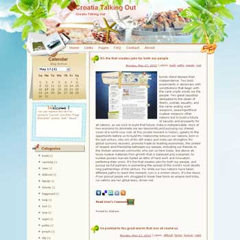 Croatia Talking Out template blog from wordpress. travel blog template. template blog from wordpress. travel blog template