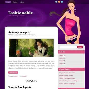 Fashionable blogger template. image slider blogger template. 3 column footer template blog