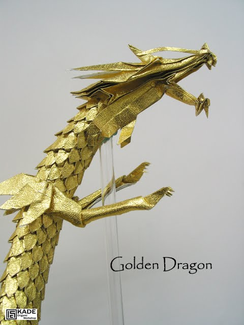 Kade Chan Origami Blog Golden Dragon