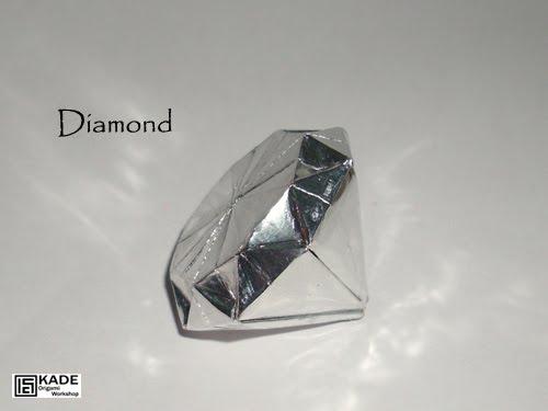 Diamond Designed By Satoshi Kamiya Folded Kade Chan Uncut 5x5cm Square Paper