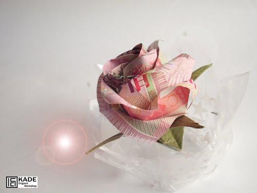 Kade Chan Origami Blog Money New Kawasaki Rose