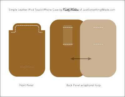 Ipod touch and iphone template diy simple leather ipod for Diy phone case template