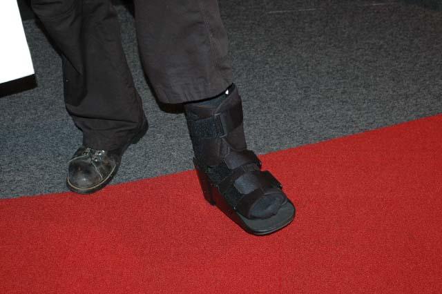 broken toe. Howard Stern broke his toe