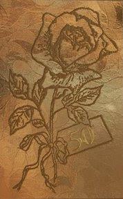 goldene Hochzeit Einladungskarte