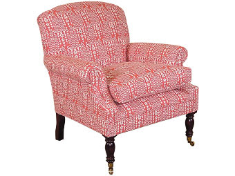 George Smith Dahl Chair With Seat Cushion In Gilberte   Coral