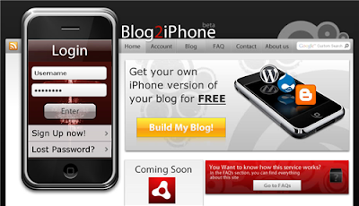 blog de blogger en un iphone