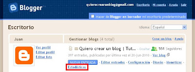 Estadísticas en Blogger