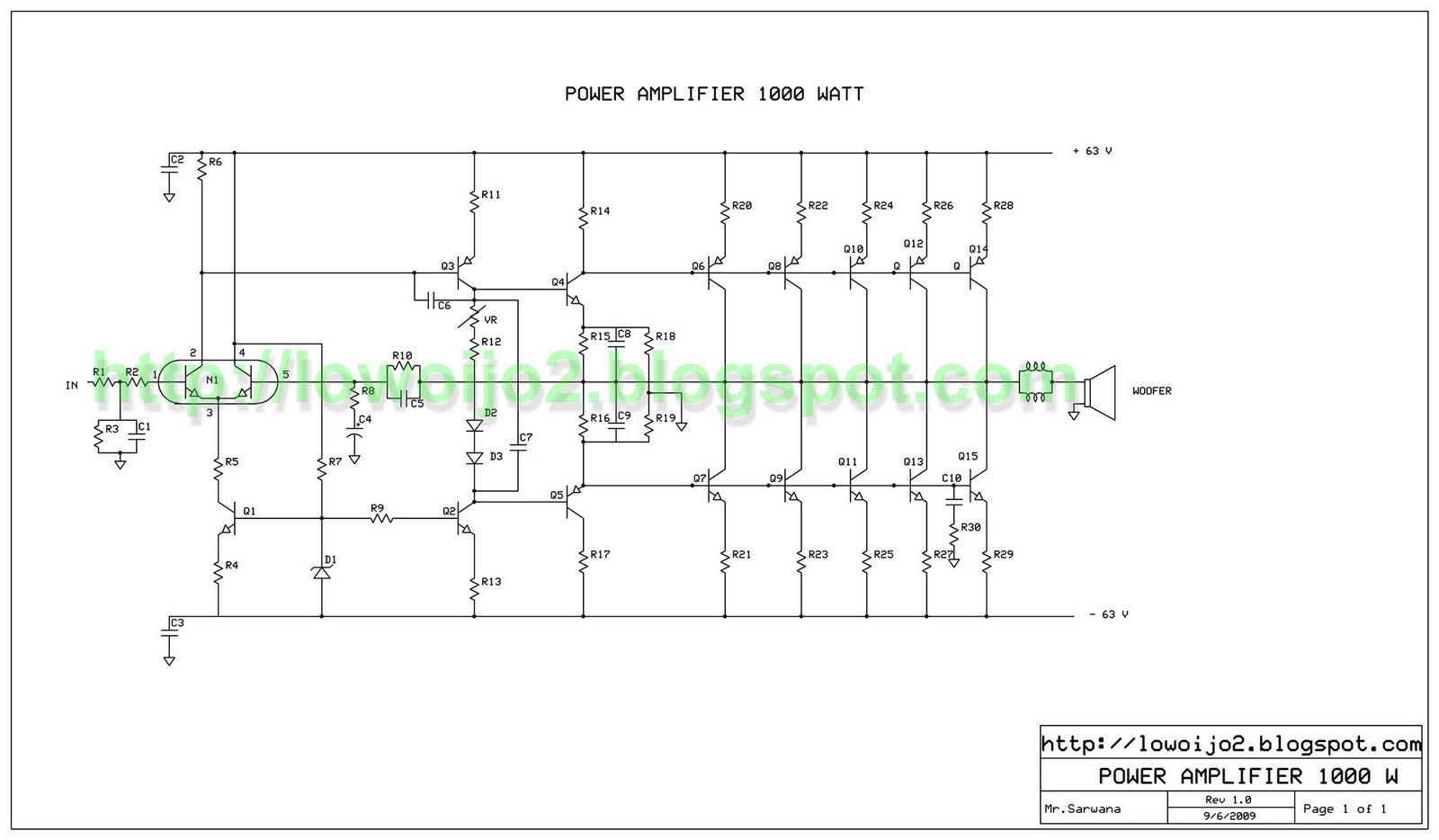 Power Amplifier 1000W