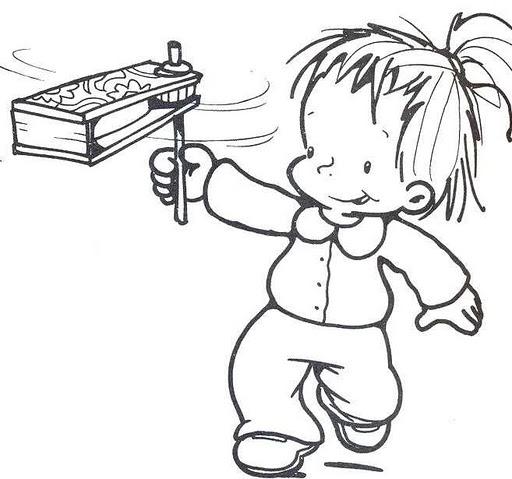 Niños juegos tradicionales para colorear - Imagui